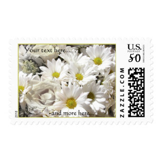 Daisy Flowers Personalized Postage Stamps