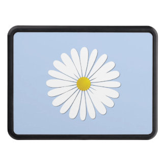 Daisy Flowers, Petals, Blossoms - White Yellow Trailer Hitch Cover