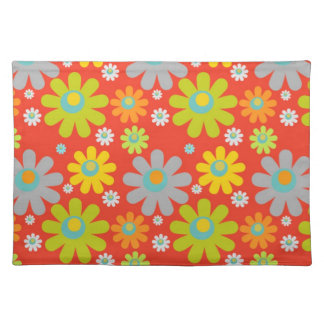 Daisy Flowers Placemat Cloth Placemat