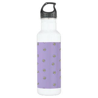 Daisy Flowers Purple Pattern 24oz Water Bottle