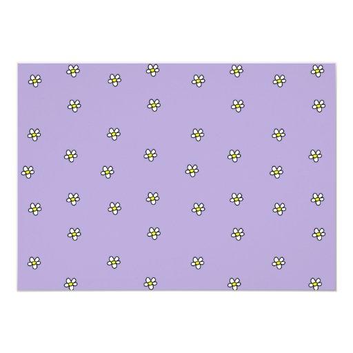 Daisy Flowers Purple Pattern Card