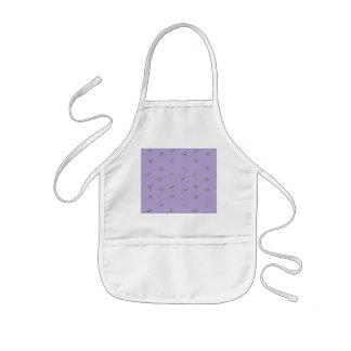 Daisy Flowers Purple Pattern Kids' Apron