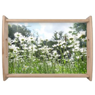 Daisy Flowers Serving Tray
