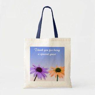 daisy flowers  thank you canvas bags