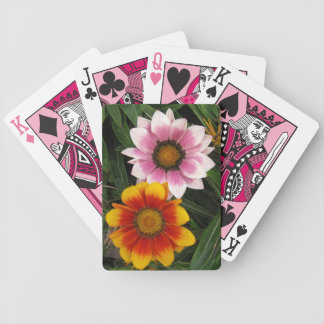 Daisy flowers - vibrant colors bicycle playing cards