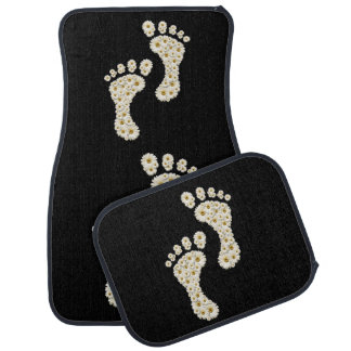 Daisy Footprints Car Mat Full Set