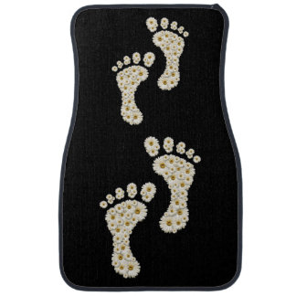 Daisy Footprints Front Car Mat
