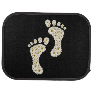 Daisy Footprints Rear Car Mat
