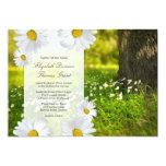 "Daisy Frame with Meadow Photo Wedding Invitation 5"" X 7"" Invitation Card"