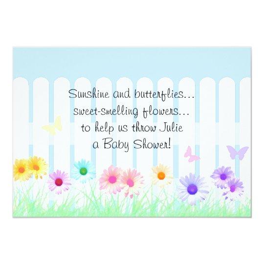 Daisy Garden Baby Shower Invitations