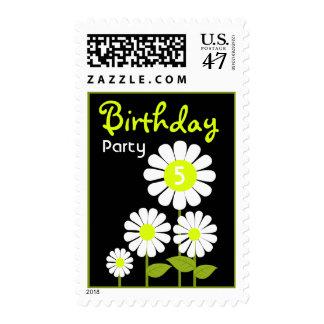 Daisy Garden Birthday Party Stamp