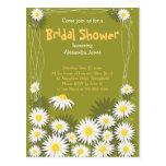 Daisy Garden Bridal Shower Party Invitation Postcards