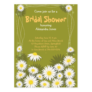 Daisy Garden Bridal Shower Party Invitation Postcard