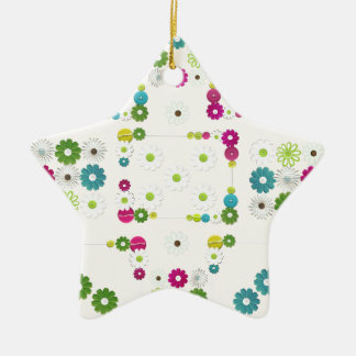 Daisy Garden Ceramic Ornament