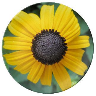 Daisy Garden Flower Gloriosa Porcelain Plates