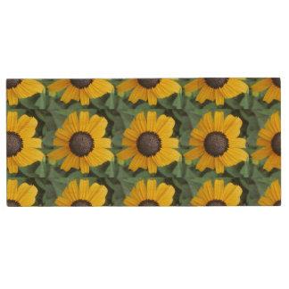 Daisy Garden Flower Gloriosa Wood USB Flash Drive