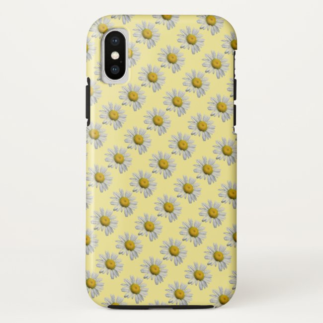 Daisy Garden Flowers Floral iPhone X Case