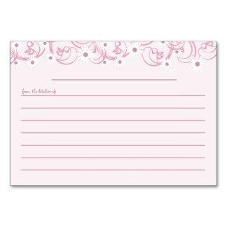 Daisy Garden Pink Recipe Card Table Card
