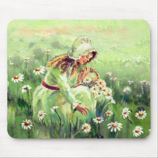 DAISY GIRL by SHARON SHARPE Mouse Pad