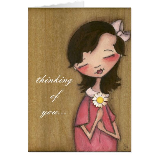 Daisy Girl - Thinking of You - Greeting Card