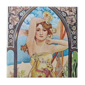 Daisy Goddess Tile
