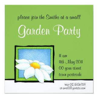 Daisy green Garden Party Invitation