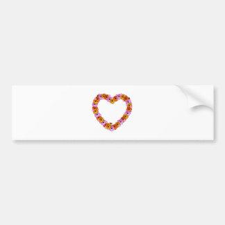 Daisy Heart Bumper Sticker