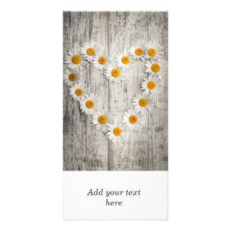 Daisy heart card