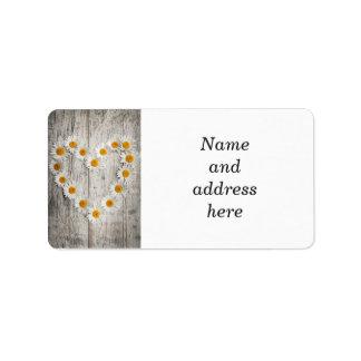 Daisy heart label
