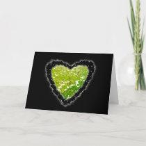 Daisy Heart Romance Valentine Love Card