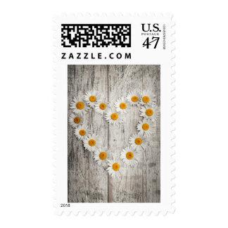 Daisy heart stamp