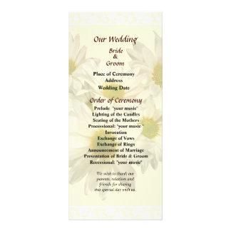 Daisy Heart Wedding Program