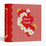 Daisy Hearts Sweet Treats Valentine 1 inch Binder