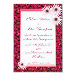 Daisy Hibiscus Engagement Invitation