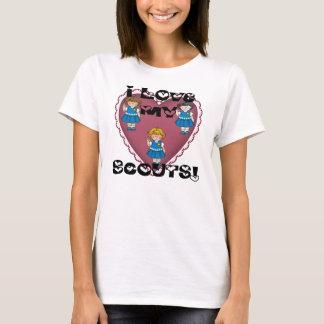Daisy I Love My Scouts Heart T-Shirt