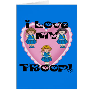 Daisy I Love My Troop Heart Card