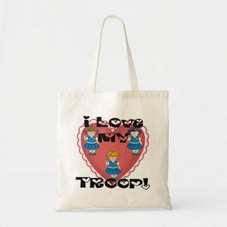 Daisy I Love My Troop Heart Tote Bag