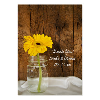 Daisy in Mason Jar Country Wedding Favor Tags Large Business Card