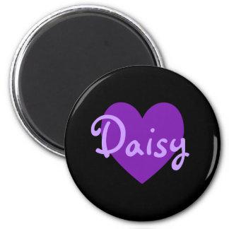 Daisy in Purple 2 Inch Round Magnet