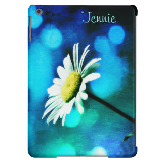 Daisy in Turquoise iPad Air Case *Personalize* Cover For iPad Air