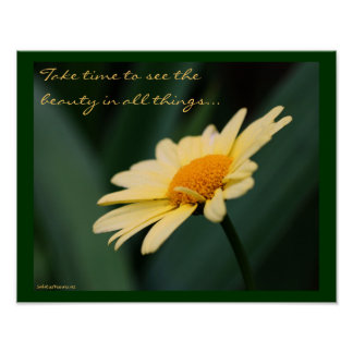 Daisy Inspirational Quote Poster