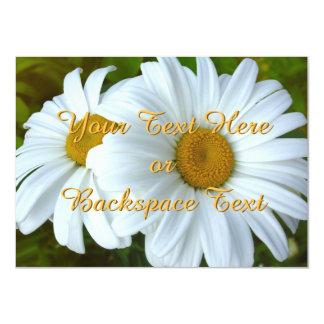 Daisy Invitations Personalized Daisy  RSVP Card