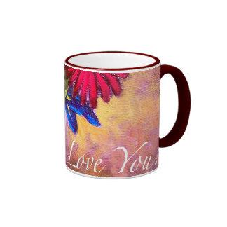 Daisy Iris Flowers Vase Painting Art - Multi Mugs