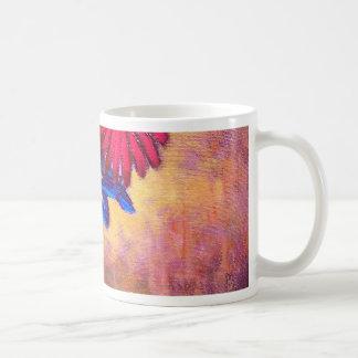 Daisy Iris Flowers Vase Painting Art - Multi Coffee Mug
