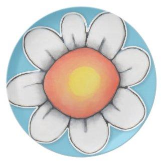 Daisy Joy blue 1 Plate