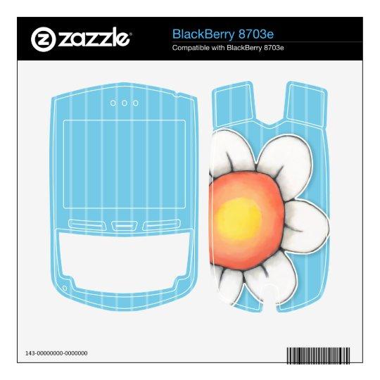 Daisy Joy blue BlackBerry 8703e Skin