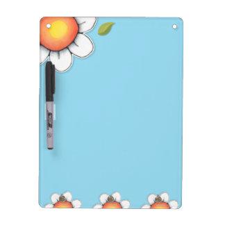 "Daisy Joy blue Dry Erase Board Key Hooks 12"" x 9"""