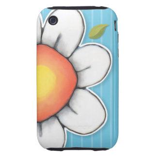 Daisy Joy blue iPhone 3 3GS Tough Case Tough iPhone 3 Case
