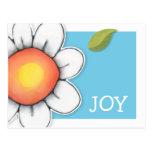 Daisy Joy blue Postcard