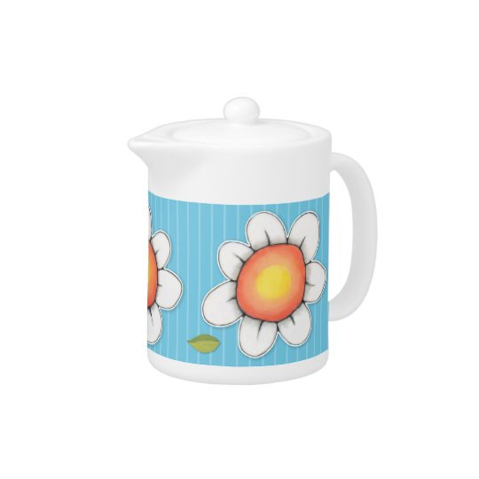 Daisy Joy blue Small Teapot